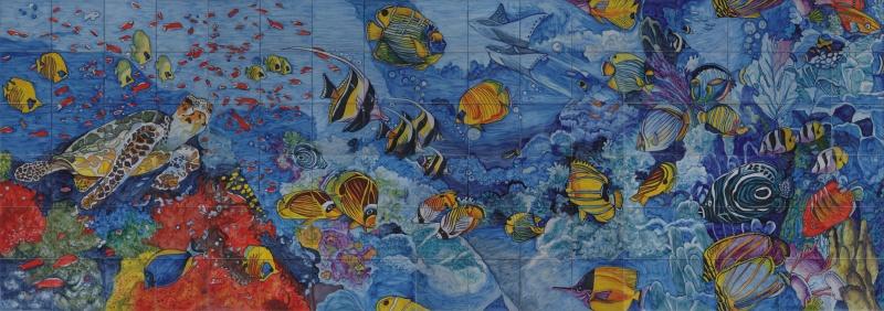 Murales marinos murales de cer mica - Murales de ceramica ...