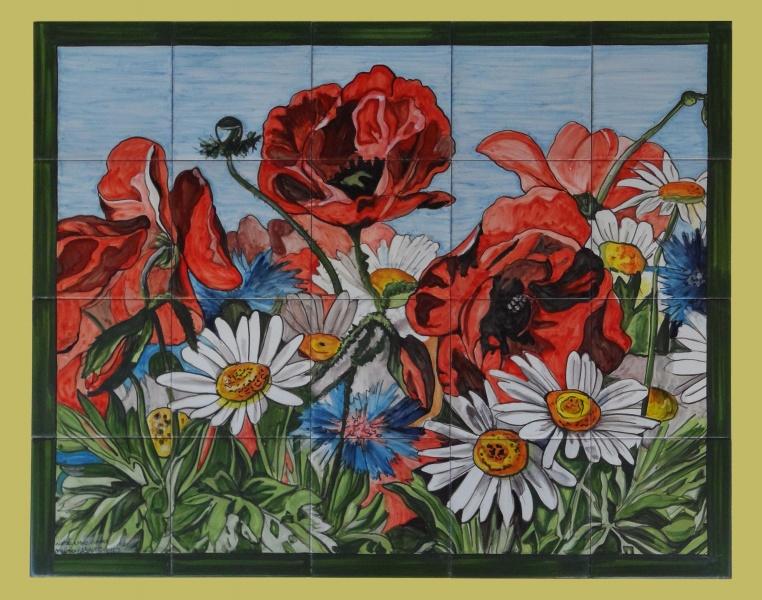 Bodegones y flores murales de cer mica for Oxidos para ceramica