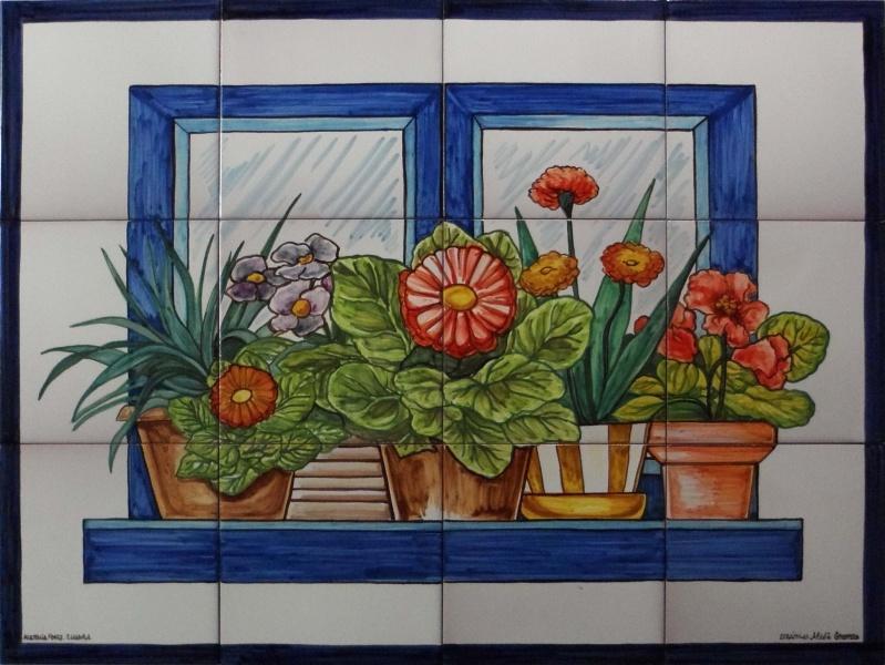 Bodegones y flores murales de cer mica Pintar azulejos a mano